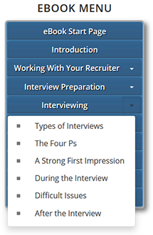 Interviewing eBook Menu